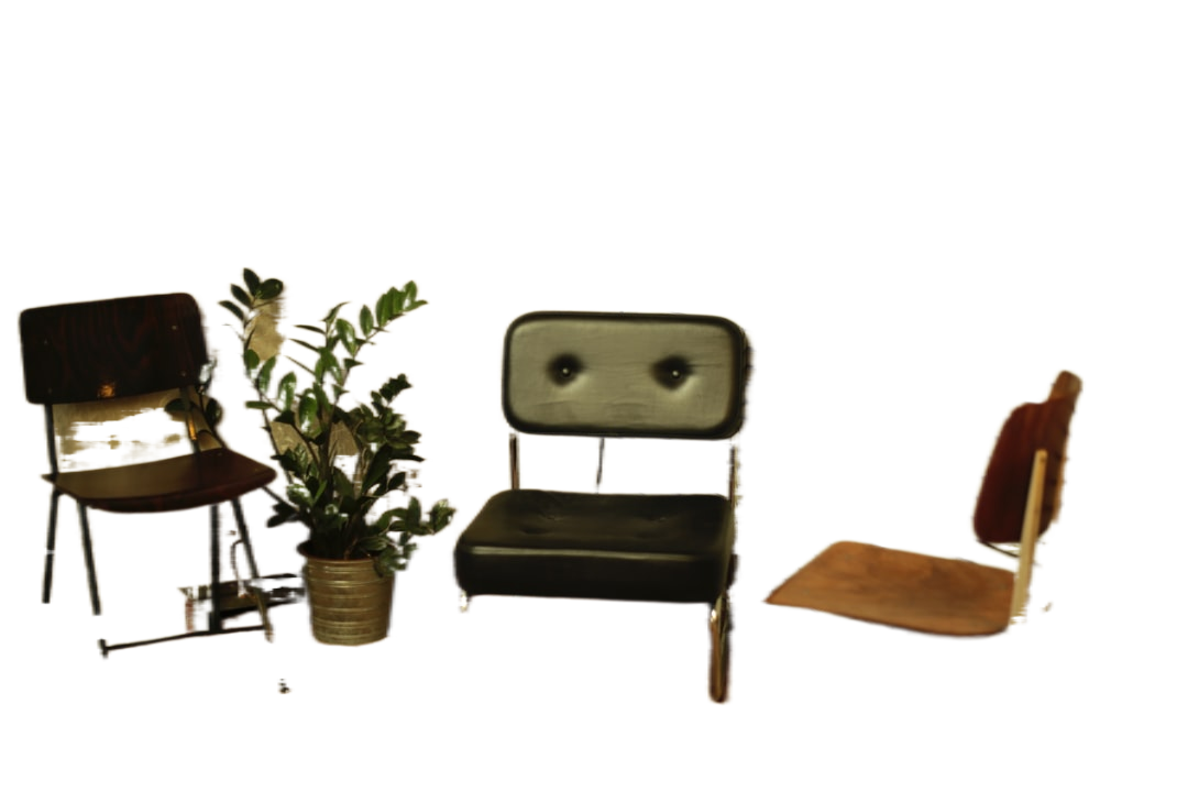 two brown and black chairs on brown wood flooring