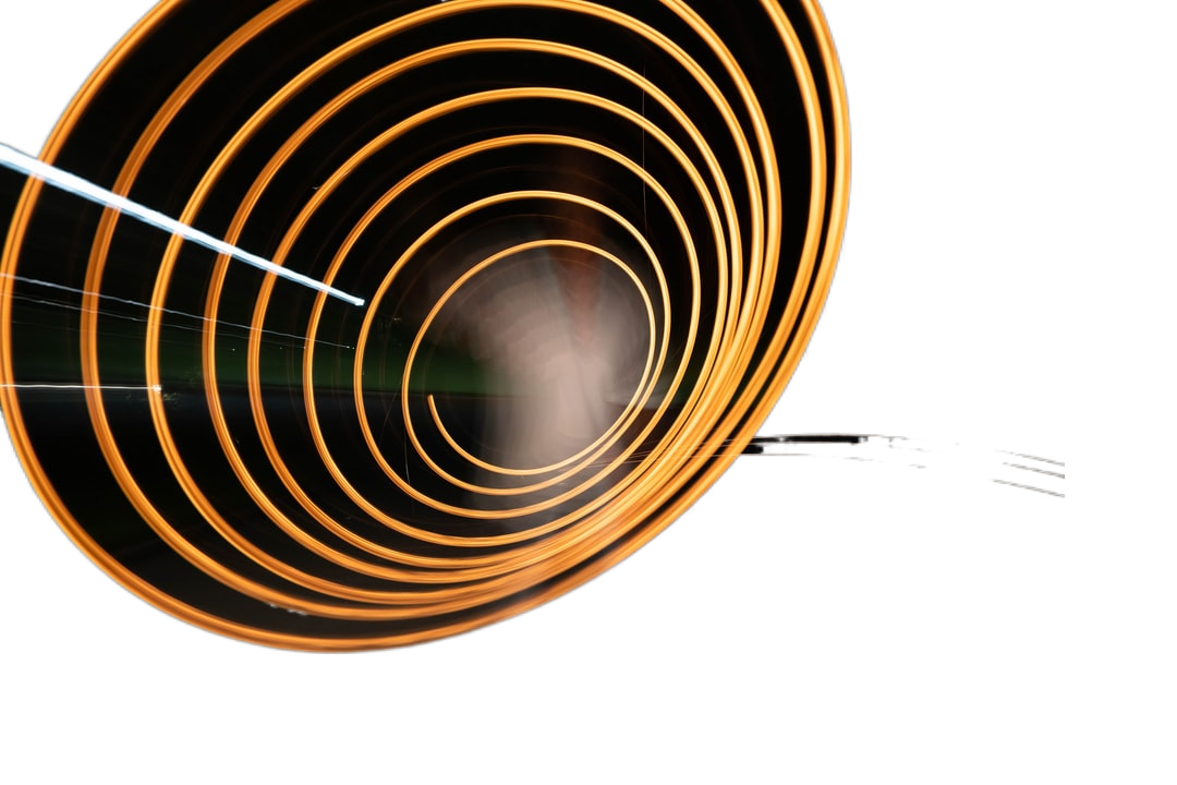 yellow and black spiral light