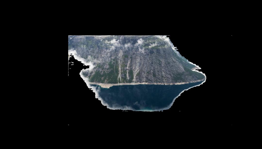 photo of misty mountain