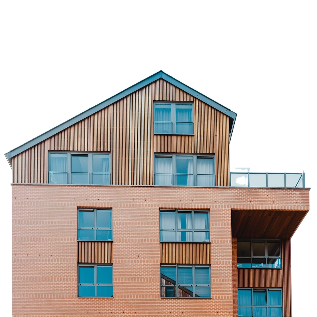 low-angle photo of brown house