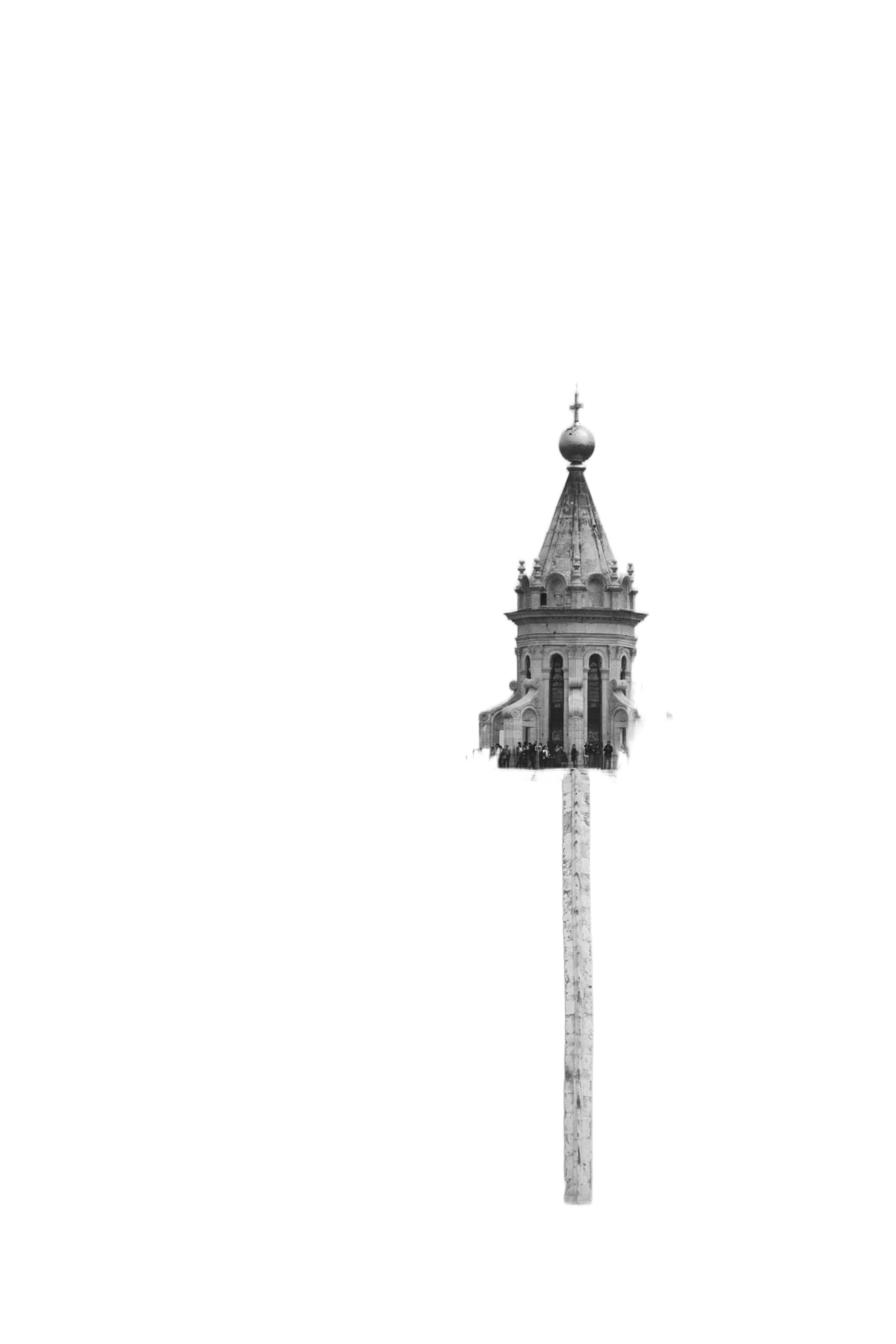 grayscale photography of dome church